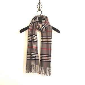 Signature Cashmere Plaid Scarf - One Size